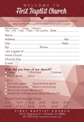 church guest cards