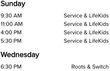 Albany NY Life Church Service Times