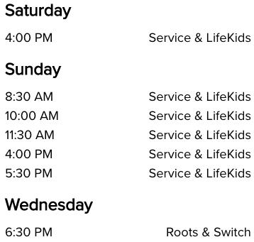 Life Church Edmond, OK Church Service Times