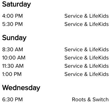 Life Church Fort Worth, TX Church Service Times