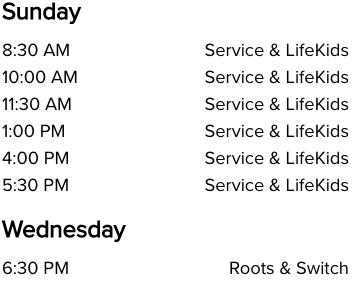 Life Church Midwest City, OK Church Service Times