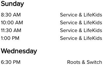 Life Church Norman, OK Church Service Times