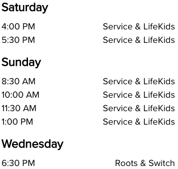 Life Church South Oklahoma City, OK Church Service Times