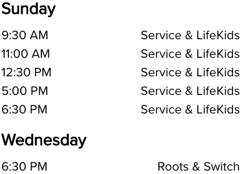 Life Church Wellington, FL Church Service Times