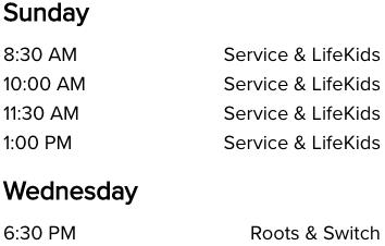 Life Church Wichita, KS Church Service Times