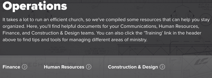 Life Church Operations Resource