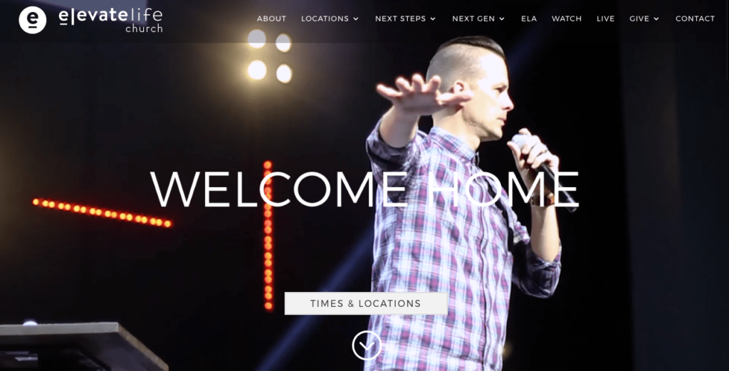 Church Website for Elevate Life Church. Best Church Websites top 10