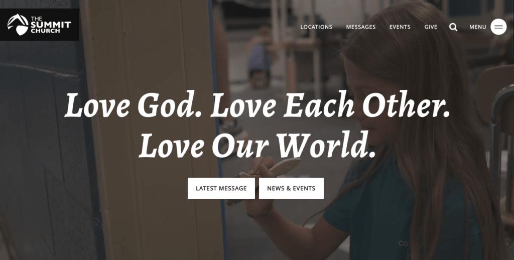 Summit Church Website. Best Church Websites top 10, best church websites