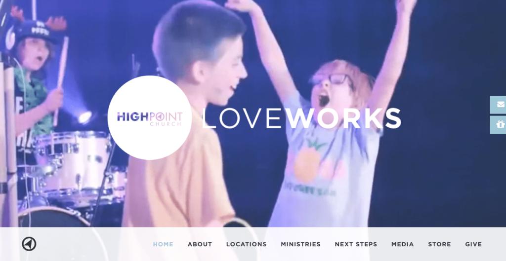 HighPoint Church Website, Number 7 on Best Church Websites top 10, best church websites