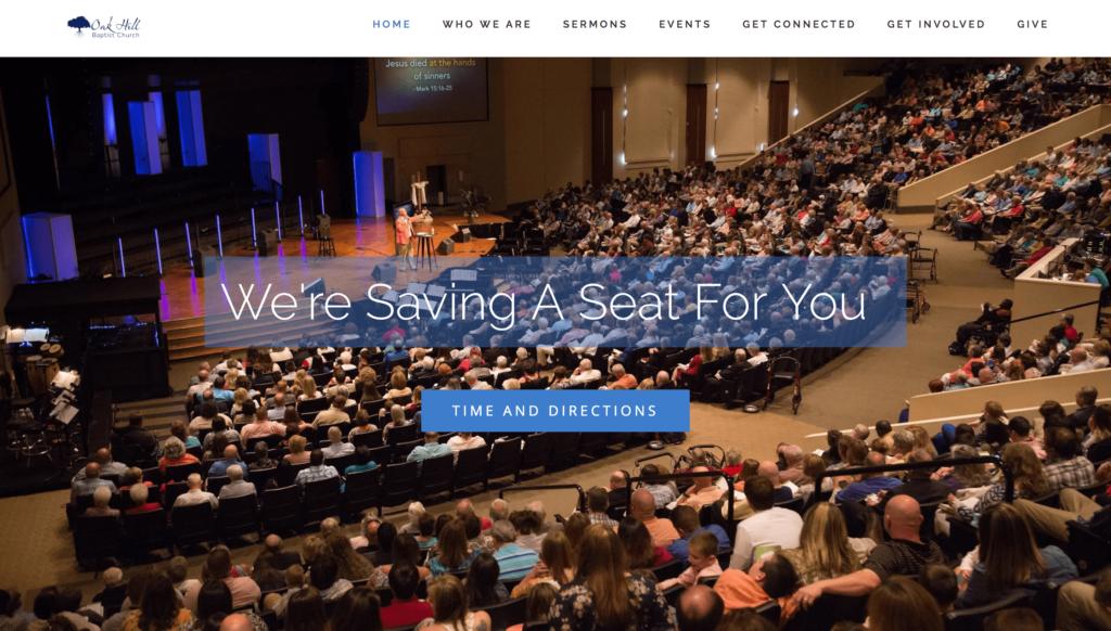 Oak Hill Baptist Church Website Homepage