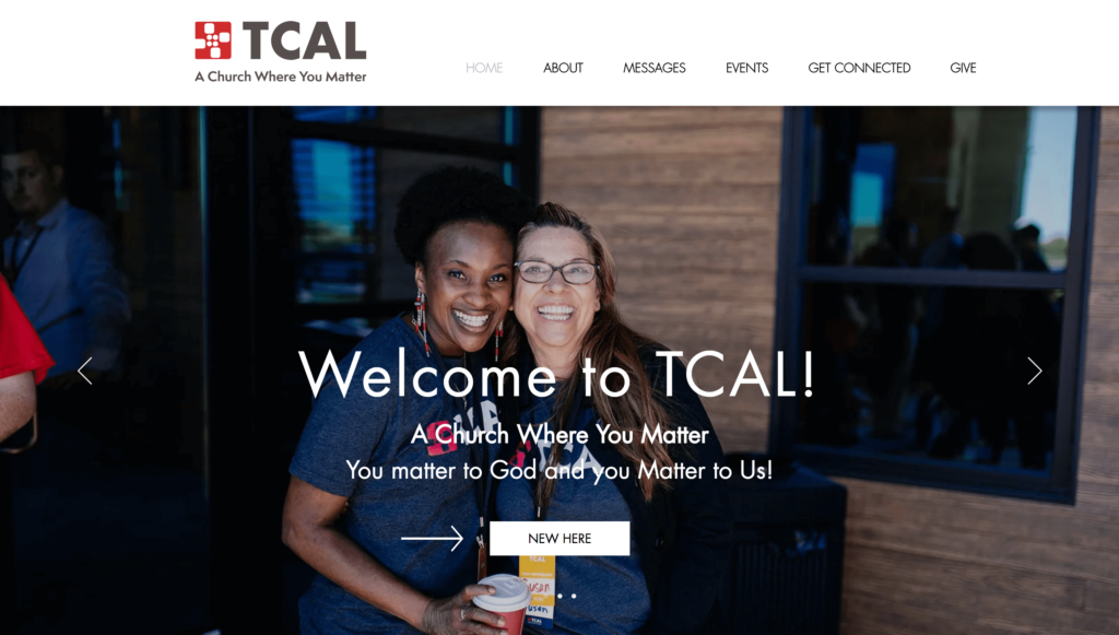 TCAL church in mansfield texas website