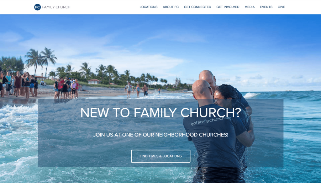 Family Church website homepage